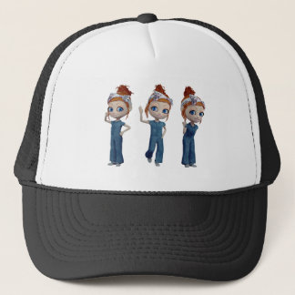 Big eyes doll Blue Trucker Hat