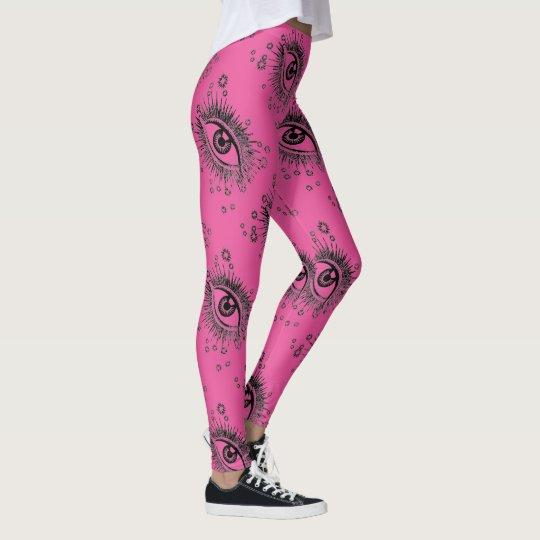 Big Eyes Graphic Yoga Pants Running