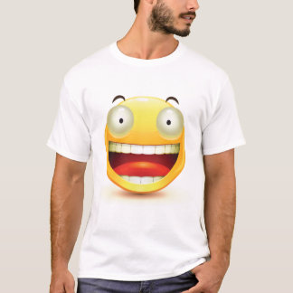 Big Eyes Smiley Face Mens T-Shirt