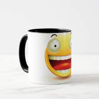 Big Eyes Smiley Face Mug