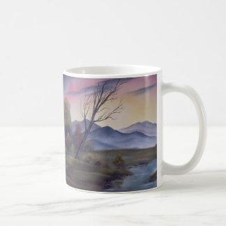 Big Fall Mountains Basic White Mug