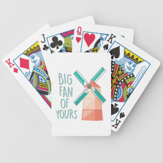Big Fan Bicycle Playing Cards