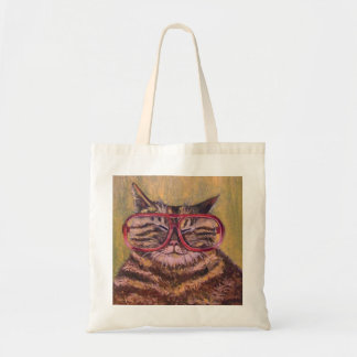Big Fat Glasses Cat Bag