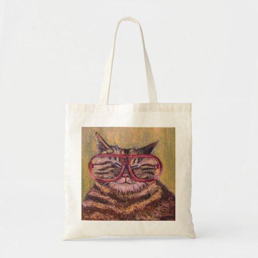 Big Fat Glasses Cat Bag