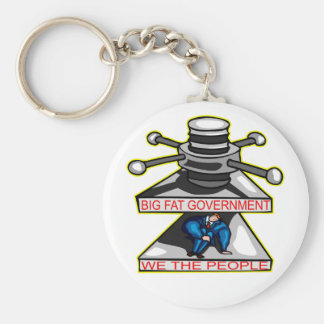Big Fat Government Is Crushing We The People Basic Round Button Keychain