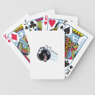 big fat shot put bird bicycle playing cards