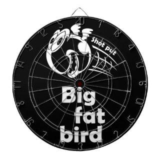 Big fat shot put bird dartboard