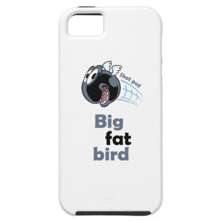 Big fat shot put bird iPhone 5 cover
