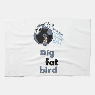 Big fat shot put bird kitchen towel