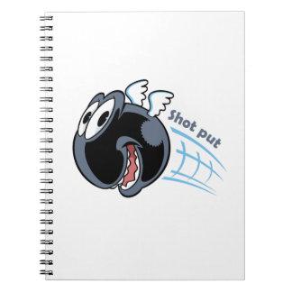 big fat shot put bird notebooks