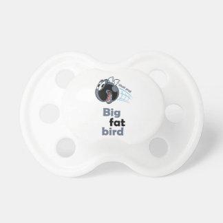 Big fat shot put bird pacifier