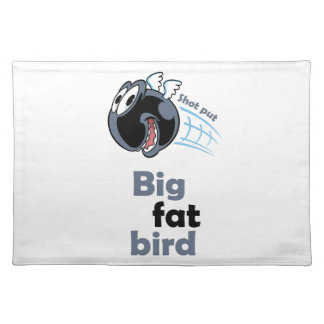 Big fat shot put bird placemat