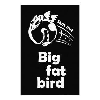Big fat shot put bird stationery