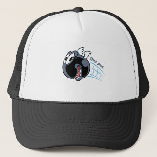 big fat shot put bird trucker hat