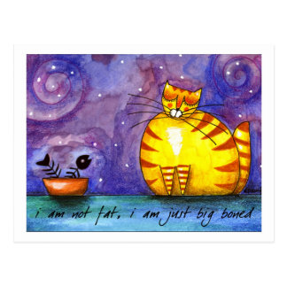 Big Fat Yellow Cat - PostCard