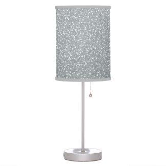 Big Faux Glitter Shiny Sparkles Silver White Color Table Lamp