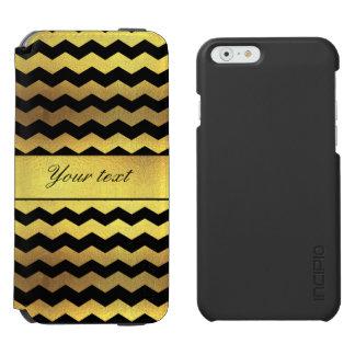 Big Faux Gold Foil Black Chevrons Incipio Watson™ iPhone 6 Wallet Case