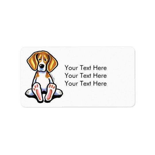 Big Feet Beagle Off-Leash Art™ Medium Label