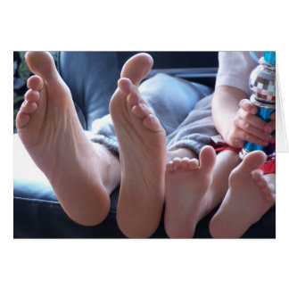 Big Feet, Little Feet - Blank Note Card