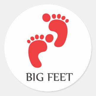 Big Feet Sticker