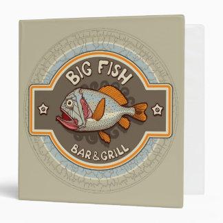 Big Fish Bar And Grill Poster 3 Ring Binder