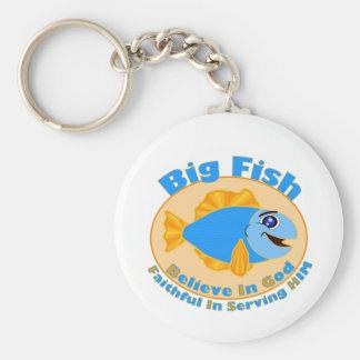 Big Fish Believe in God Keychain