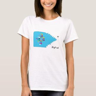 Big Fish Cartoon Blue Sea Small Fishes Trendy Cool T-Shirt