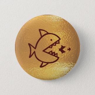 BIG fish eat  SMALL FISH 2 Inch Round Button