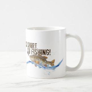 big fish on the hook coffee mug