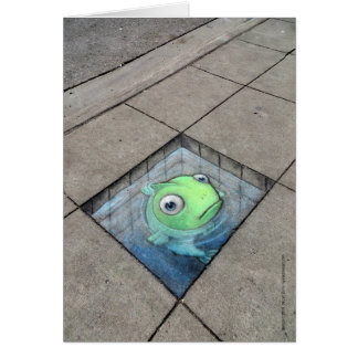 big fish, small sidewalk card
