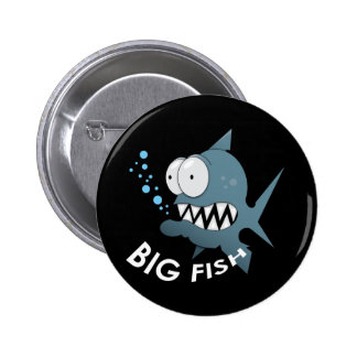 Big Fish - Standard, 2¼ Inch Round Button 2 Inch Round Button