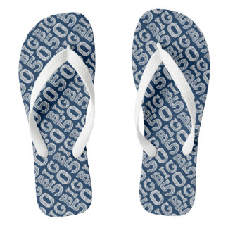 Big Five O Fifty Years Old Flip Flops