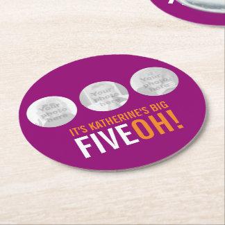 BIG FIVEOH! 50 name and photo templates coasters