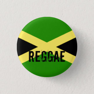big flag, REGGAE 1 Inch Round Button