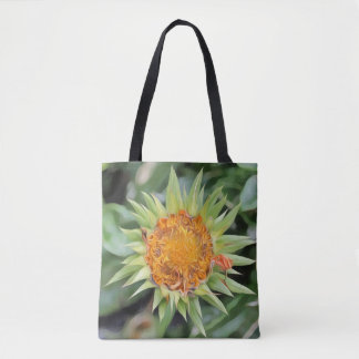 Big flower a la Van Gogh on a tote bag