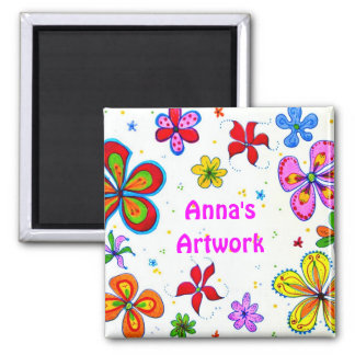 Big Flowers Art Design Magnet