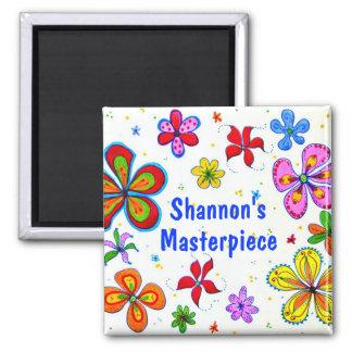 Big Flowers Art Design Magnet