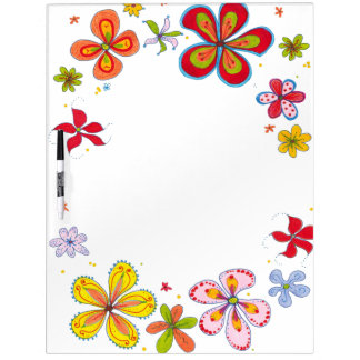 Big Flowers Art Large Dry Erase Board
