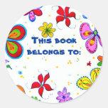Big Flowers Book ID Stickers