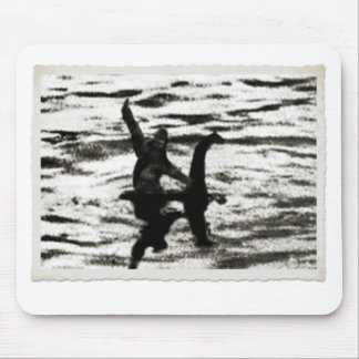 Big Foot and Bessie The lake monster sighting Mouse Pad