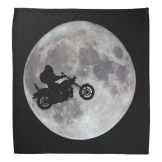 Big foot, big bike and a big bright moon bandana