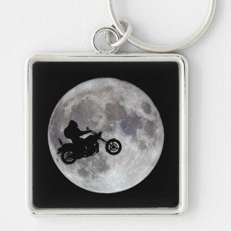 Big foot, big bike and a big bright moon keychain