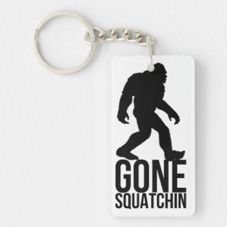 Big foot gone squatchin Double-Sided rectangular acrylic keychain