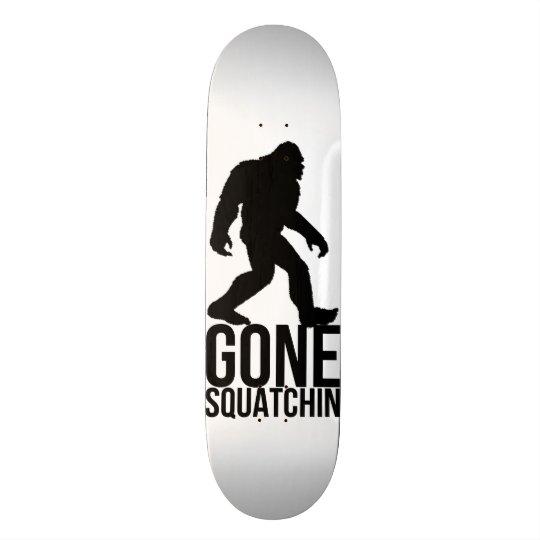 Big foot gone squatchin skate board deck