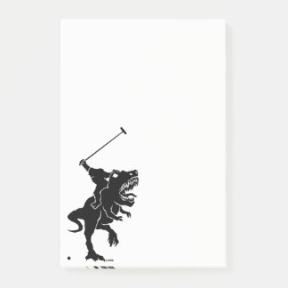 Big foot playing polo on a T-rex Post-it Notes