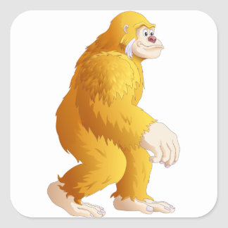Big Foot Square Sticker