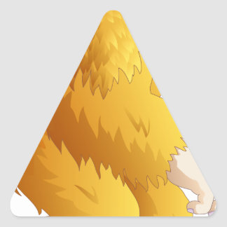 Big Foot Triangle Sticker