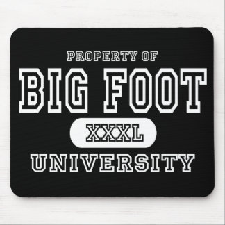 Big Foot University Dark Mouse Pad