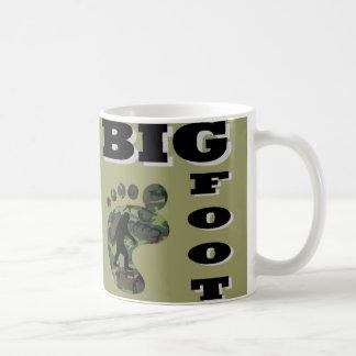 Big foot with foot logo coffee mug