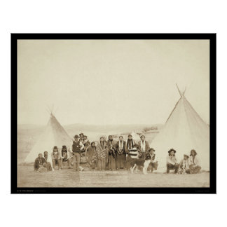 Big Foot's Indian Tipi Camp SD 1890 Poster